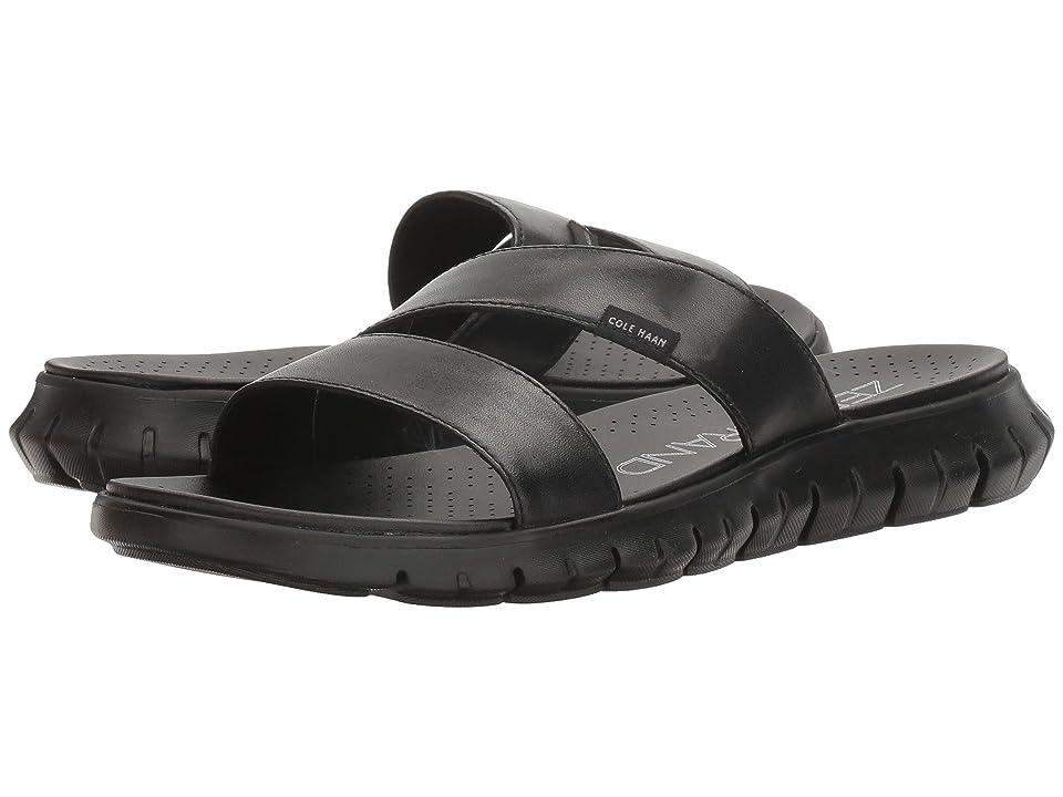 Cole Haan Zerogrand 2 Stripe Sandal (Black Leather/Black) Women