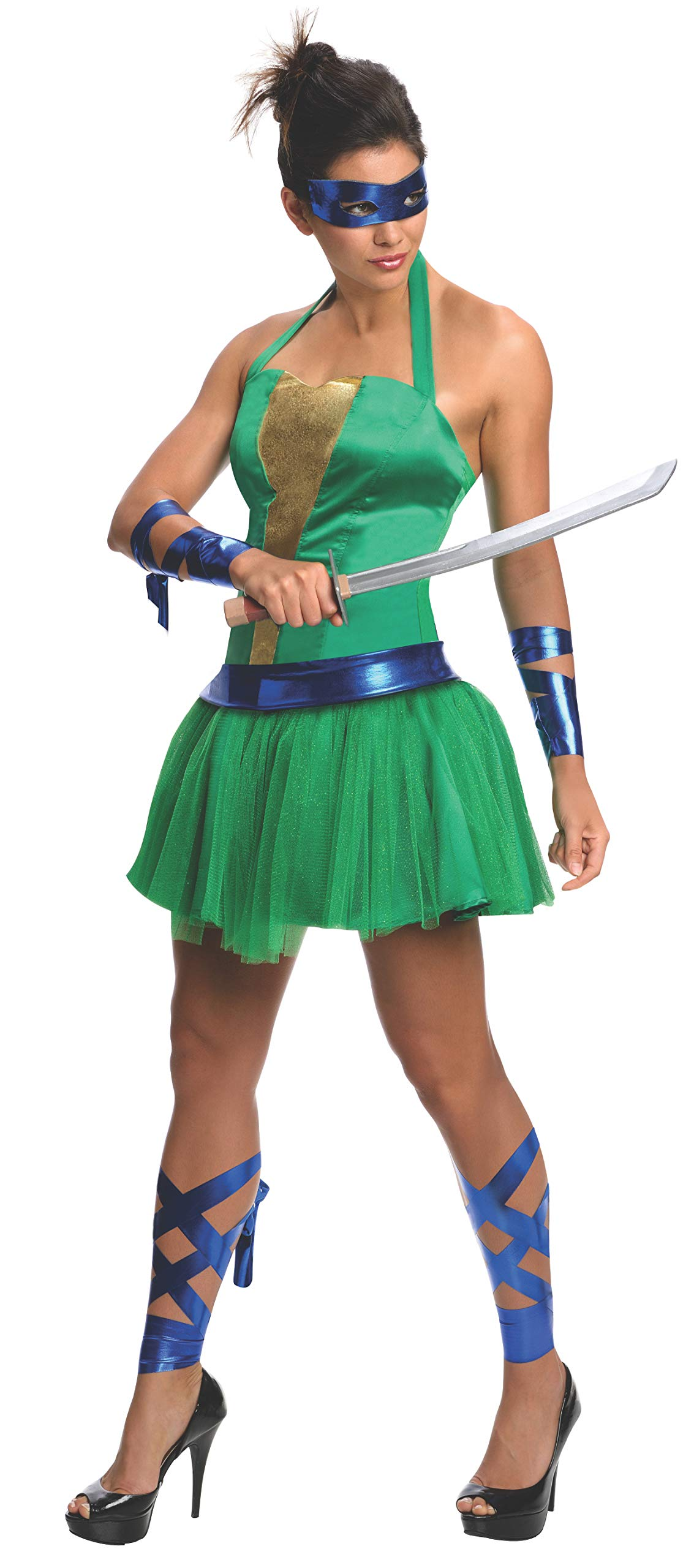 Disfraz de Leonardo Las Tortugas Ninja para mujer: Amazon.es ...