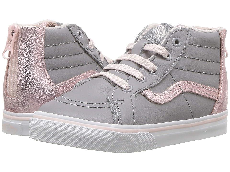 Vans Kids Sk8-Hi Zip (Infant/Toddler) ((MTE) Metallic/Alloy/Heavenly Pink) Girls Shoes