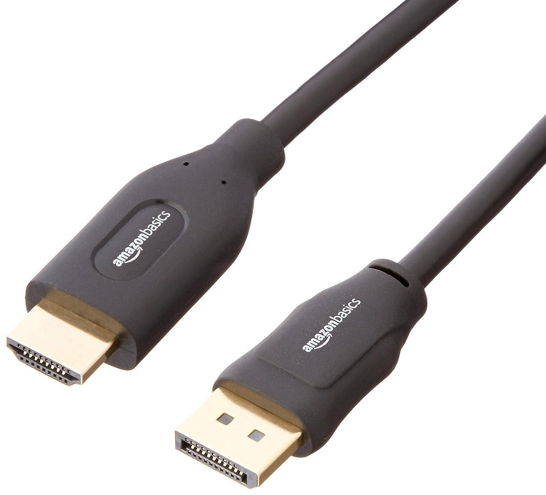 AmazonBasics DisplayPort to HDMI Display Cable - 3 Feet