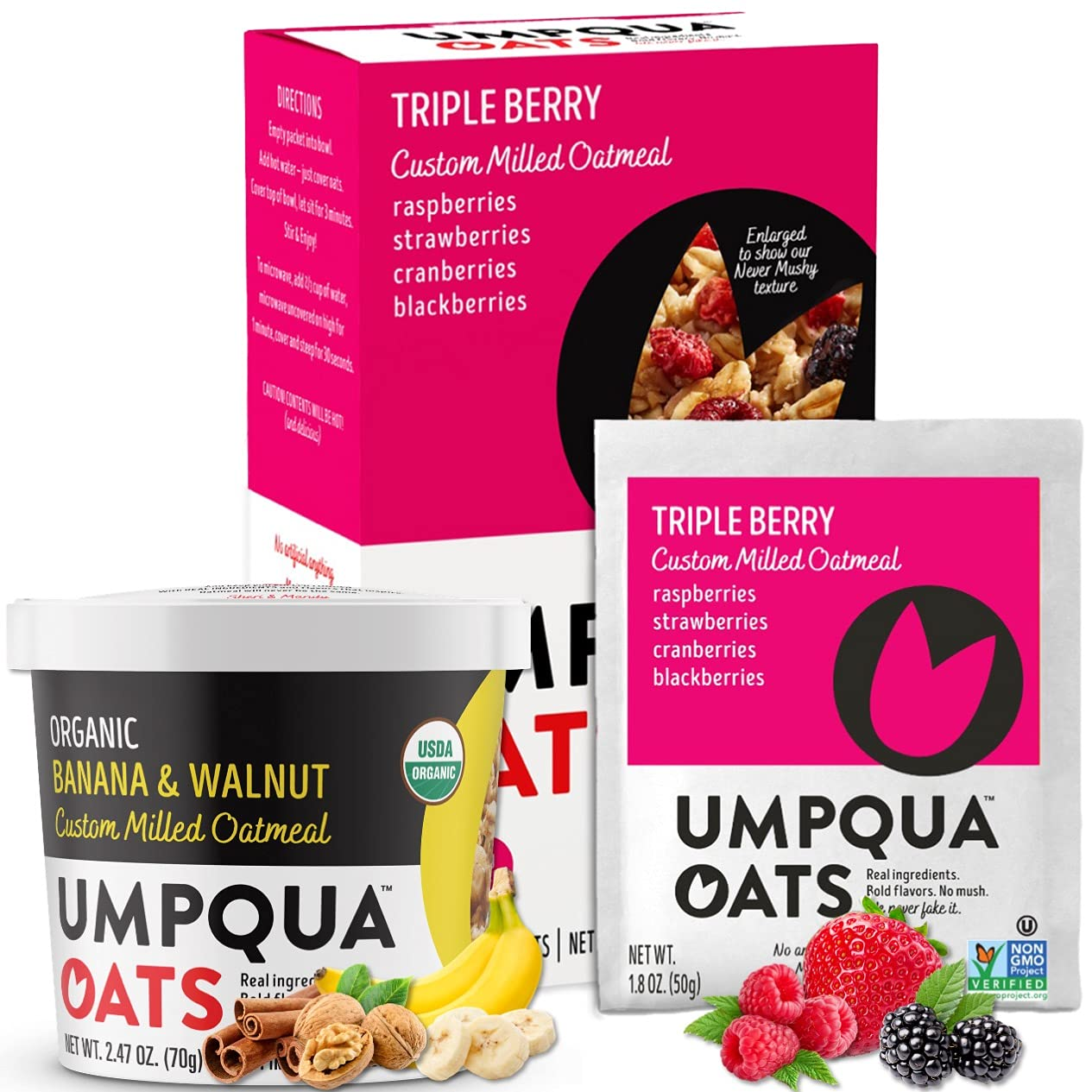 Umpqua Courier shipping free shipping Oats - Combo All Natural Oatmeal Premium Albuquerque Mall C Packets and