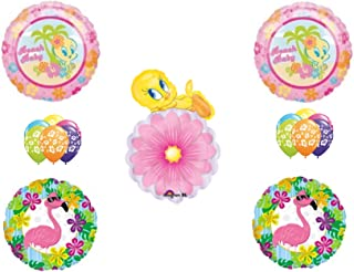 Beach Baby Tweety Bird Birthday Shower Party Balloons Decoration Flamingo Hibiscus