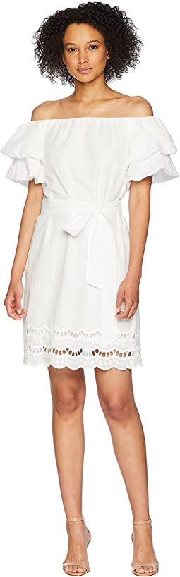 Diem Off Shoulder Eyelet Dress
