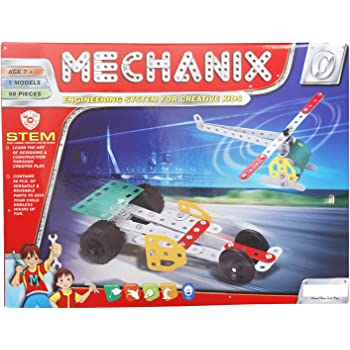 Krireen Kid's Creative Toys Mechanix Toys for Boys Zero Metal Extra Fun Pieces Motor Skill Development Kit for Boys and Girls (Multicolor)