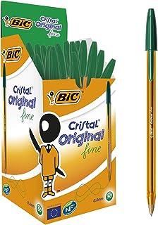BIC Cristal Fine 0.8mm Green (Box 50)
