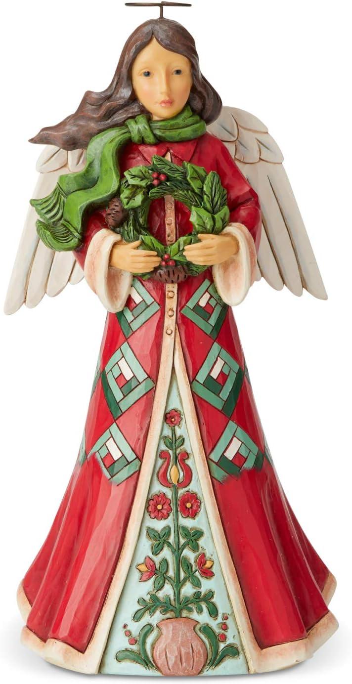 Enesco Jim Shore Heartwood Creek Max 50% OFF Angel Max 72% OFF Figurine 9.5 Wreath with