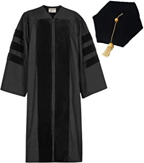 GraduationMall Classic Doctoral Graduation Gown Tam Set