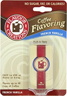 Flavour Creations Coffee Flavoring Tablets, French Vanilla, 48-Count Dispensers (Pack of 6)