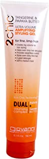 Giovanni Amplifying Hair Styling Gel - 2Chic Ultra-Volume Daily Volumizing Formula with Tangerine and Papaya Butter 5.1 oz.