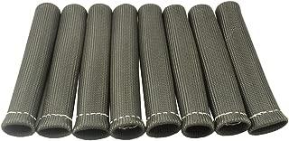 JDMSPEED 8 Black 1200° Spark Plug Wire Boots Heat Shield Protector Sleeve SBC BBC 350 454