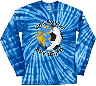 Italy Soccer One World Tie Dye T-Shirt Jersey Long Sleeves 44a2ea299