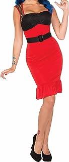 Women's Retro Rock Scarlet Rose Rockabilly Pin-Up Girl Costume