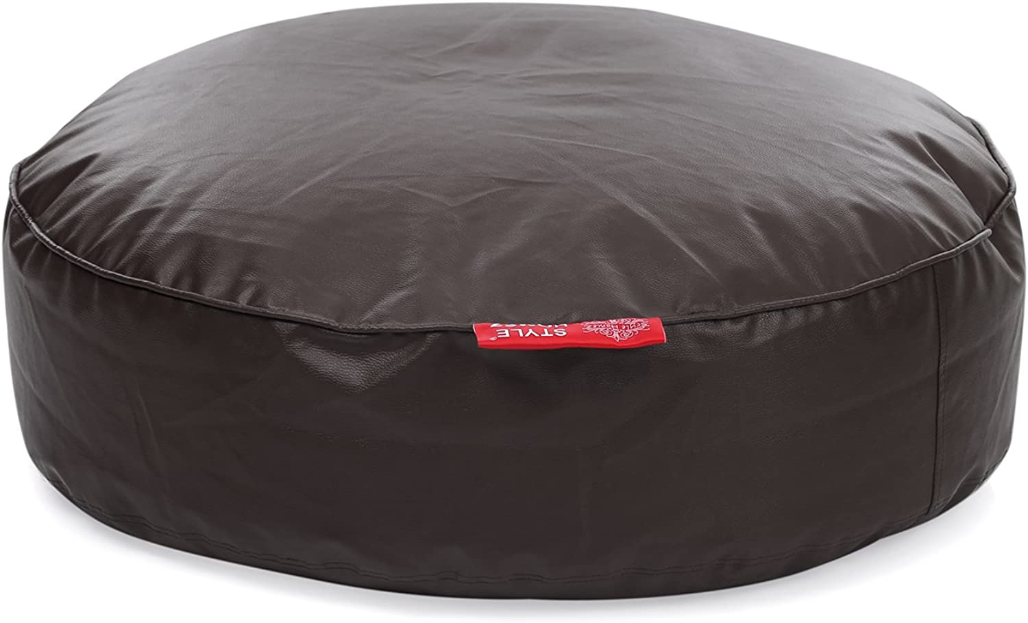 Style Homez Classic Round Floor Cushion XXL size Chocolate Brown color Cover Only