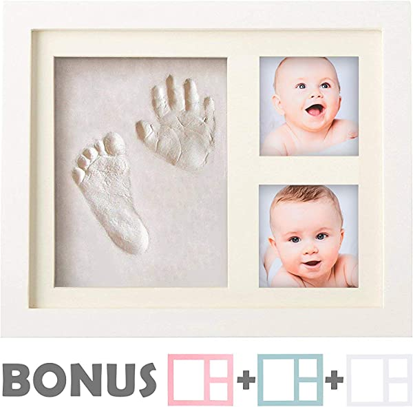 Baby Handprint Kit NO Mold Baby Picture Frame Baby Footprint Kit Perfect For Baby Boy Gifts Top Baby Girl Gifts Baby Shower Gifts Newborn Baby Keepsake Frames