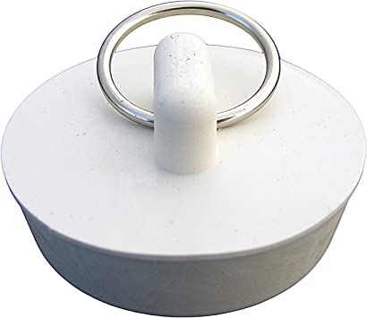 Tub stopper white fits 1.5 inch to 2 inch  drains