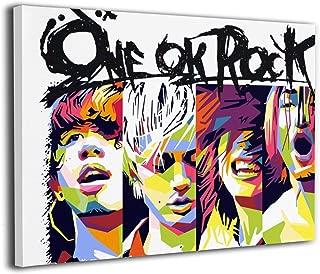 One Ok Rock モノクロ バンド 音楽 ポスター インテリアアート 30x40cm アートパイル ポスター アートフレーム おしゃれ インテリア 北欧