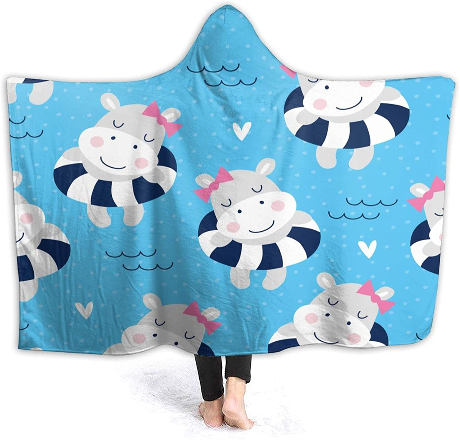 OFFicial shop Hooded Blanket Anti-Pilling Flannel Wearable Online limited product Throw Blank