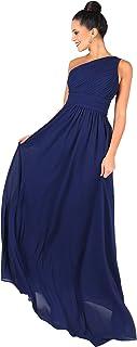 KRISP Vestido Mujer Fiesta Largo Talla Grande Hombro