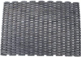 "Durable Corporation-400S2436 Dura-Rug Recycled Fabric Tire-Link Outdoor Entrance Mat, 24"" x 36"",Black"