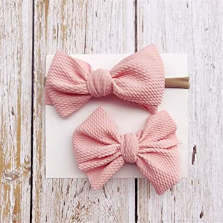 Ronshin Fashion 2 PCS Cute Kids Girl Baby Headband Infant Newborn Child Flower Bow Hair Band Accessories with Toddlers Hai...