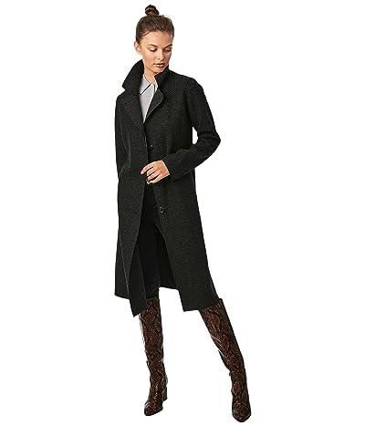 Bernardo Fashions Sweater Wool Coat (Heather Black) Women