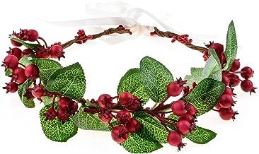 Floral Fall Christmas Flower Crown Vintage Nature Berries Festival Woodland Wedding Headband HD-02