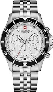 Swiss Military Hanowa - Reloj Analógico para Unisex Adultos de Cuarzo con Correa en Acero Inoxidable 06-5331.04.001