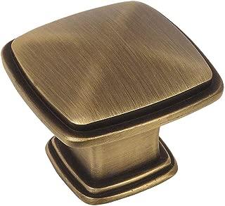 10 Pack - Cosmas 4391BAB Brushed Antique Brass Modern Cabinet Hardware Knob - 1-1/4