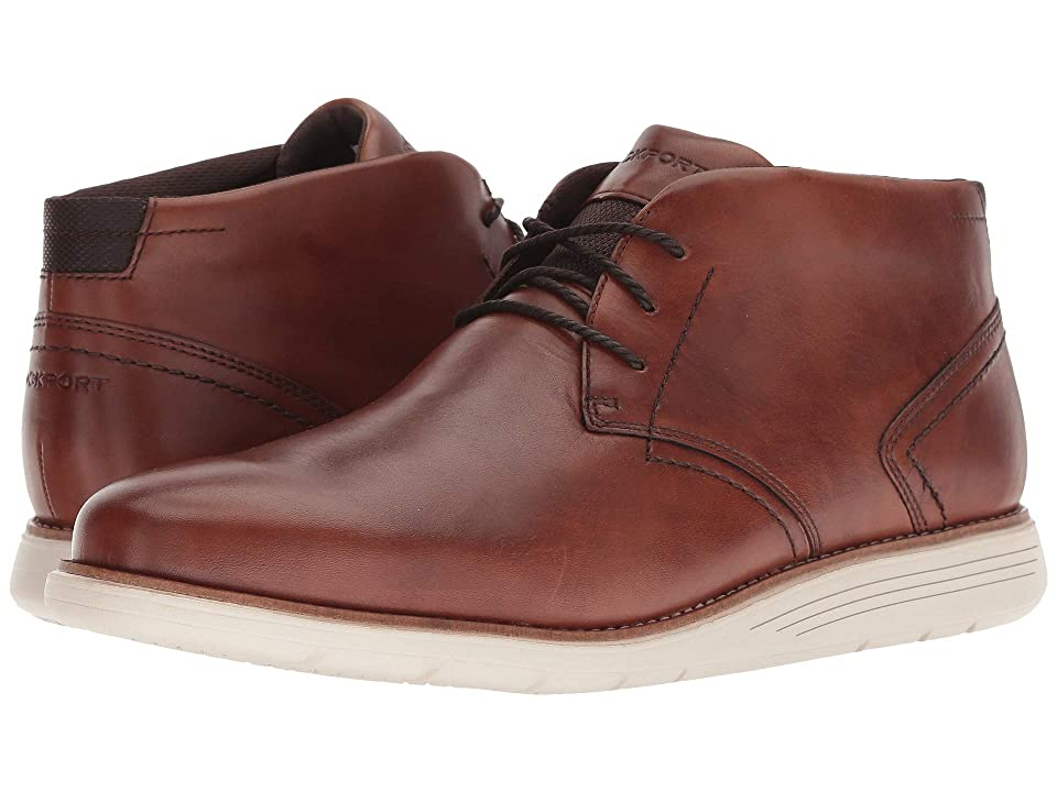 Rockport Total Motion Sports Dress Chukka (Tan Leather) Men