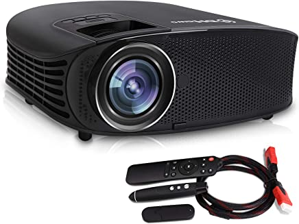 Video Projector,DHAWS 3800LM 1080P Full HD HDMI Office Projector for Business PowerPoint Presentation and Home Theater,with PPT Clicker