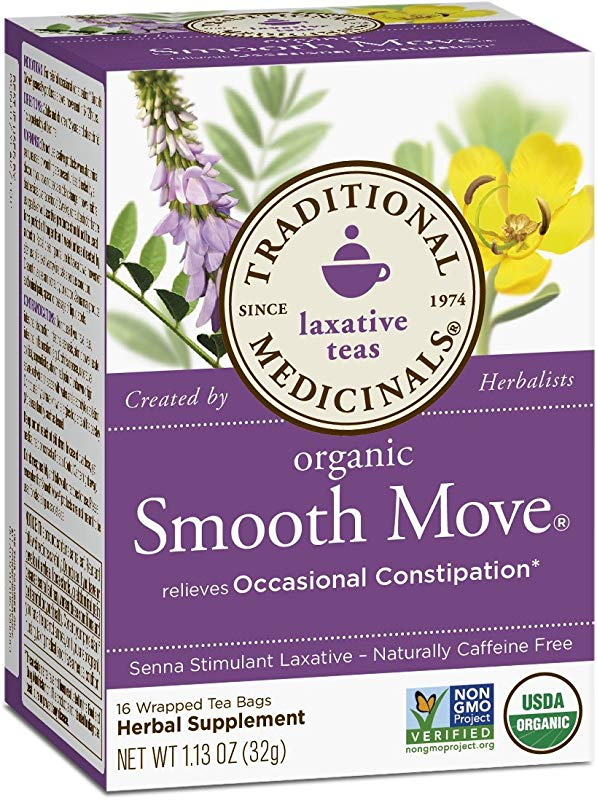 Traditional Medicinals Organic Smooth Move Laxative Tea 16 Tea Bags Pack Of 1
