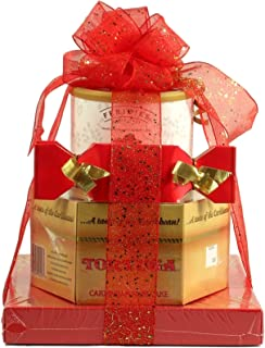 Gift Basket Village Sweet Cakes, Tower of Treats - Satisfy any Sweet Tooth, filled with moist Cayman Island cake and cooki...