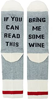 Zmart If You Can Read This Novelty Funny Saying Combed Cotton Crew Dress Beer Coffee Taco Wine Socks, Gag Gift for Men Women