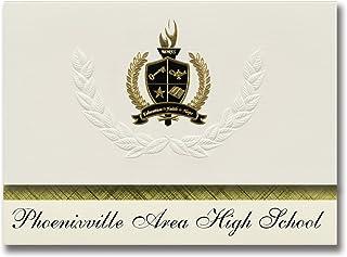 Signature Ankündigungen PHOENIXVILLE Bereich High School (PHOENIXVILLE, PA) Graduation Ankündigungen, Presidential Elite Pack 25 mit Gold & Schwarz Metallic Folie Dichtung B078VCYX19  Qualität zuerst