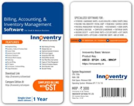 Innoventry Billing , Accounting & Inventory Management Software Basic Version GST Ready ERP Solution For Small & Medium Business | POS | BARCODE | ANDROID APP