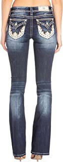 Miss Me Western Scallop Embellished Chloe Boot Cut Jeans