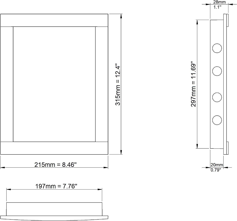 Trappe dinspection blanche 15 x 15 cm 150 x 150 mm En plastique