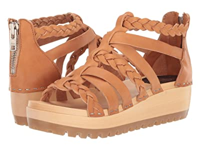Swedish Hasbeens Gladiator Clog (Nature) Women