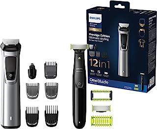 Philips 12-i-1 premium multigroomingset - Multigroom & OneBlade - Styling för ansikte, har och kropp - Skäggtrimmer, harkl...