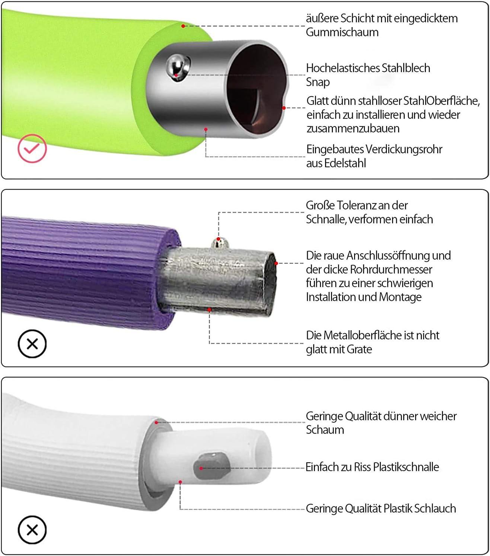 Verstellbarem Gewicht Hula Hoop Reifen f/ür Erwachsene Hula Hoop 8 Sektionen mit Abnehmbarem Edelstahl Premium Schaumstoff Stabiler Komfortabler Geeignet f/ür Zuhause Heimb/üro Bauchformung