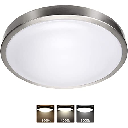 Design House 819524 Eastport Classic Contemporary Indoor Dimmable Light with Frosted Glass Ceiling Mount//GU24 Bulb Satin Nickel