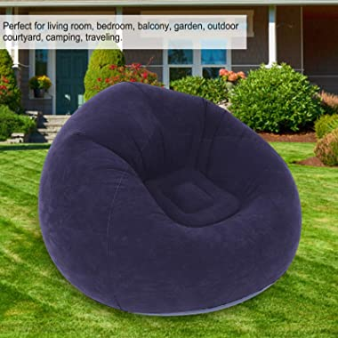 Fayomet Inflatable Lounge Chair Ultra Soft Inflatable Single Spherical Sofa Chair Perfect for Living Room Bedroom Balcony