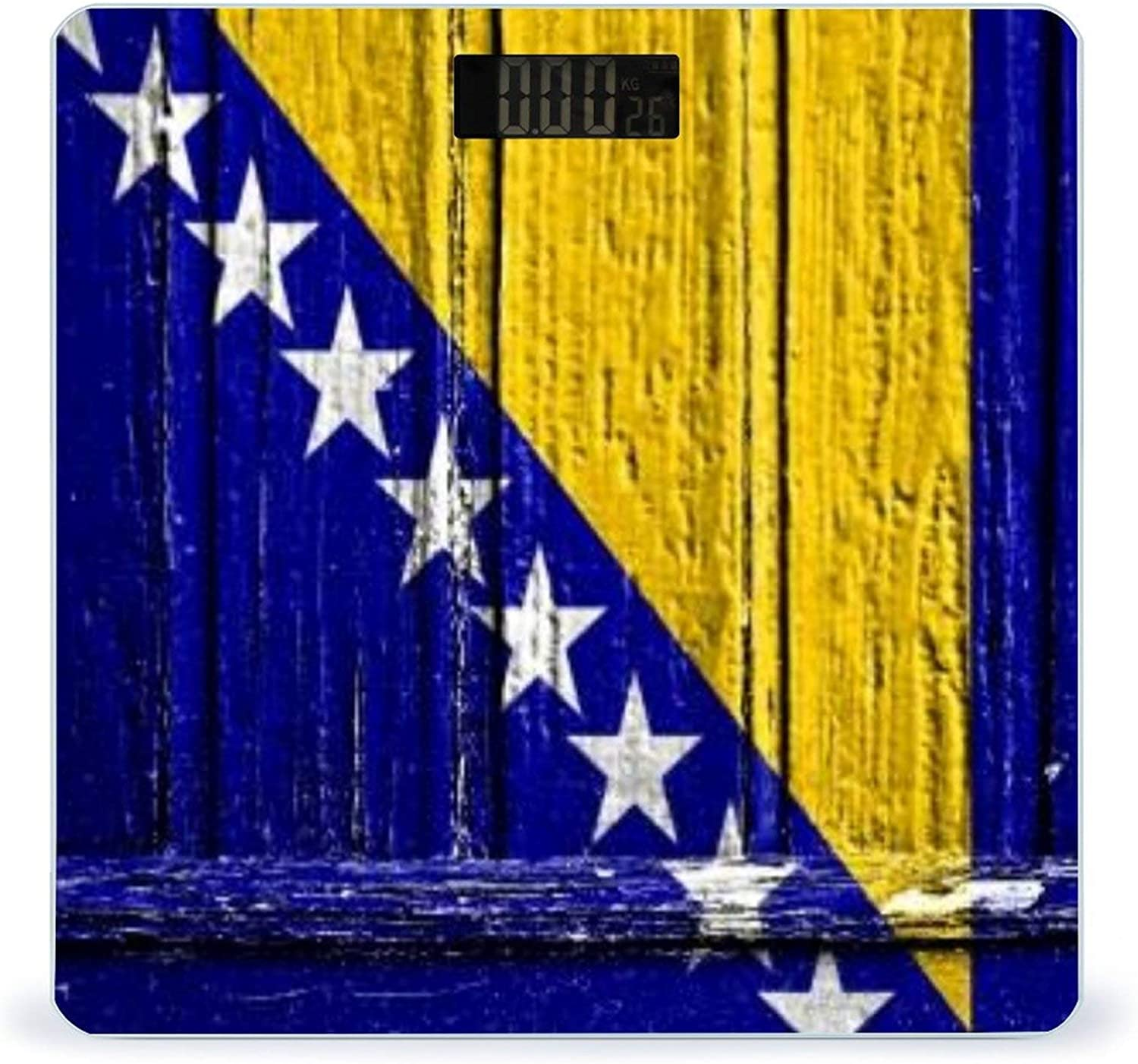 CHUFZSD Flag of Bosnia Wholesale and Herzegovina H Max 89% OFF Wooden On Painted Frame