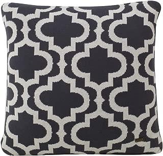 Pluchi Fernando Knitted Antique 100% Cotton Cushion Cover Dec Pillows Decorative Sofa Couch Cushion Pillow 16x16'' (40x40cm)