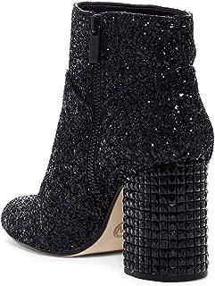 Michael Michael Kors Womens Arabella Glitter Ankle Boots Black 8 Medium