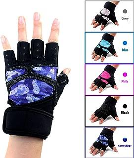 RUNATURE Cycling Gloves Mountain Bike Gloves SBR Pad Shockproof Anti- Slip Breathable Biking Gloves Half Finger Suit Men Women