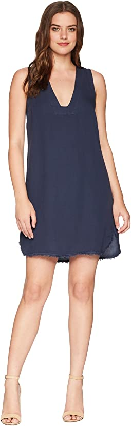 Crosshatch V-Neck Tunic Dress
