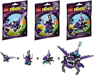 LEGO, Mixels Series 3 Bundle Set of Wiztastics, Mesmo (41524), Magnifo (41525), and Wizwuz (41526)