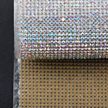 Hisenlee Boutique Rhinestone Decorative Stickers (24X40CM Hot Melt Crystal Crystal Rhinestone DIY Clothes, Shoes, Car, Mobile Phone Case) (Clear AB)