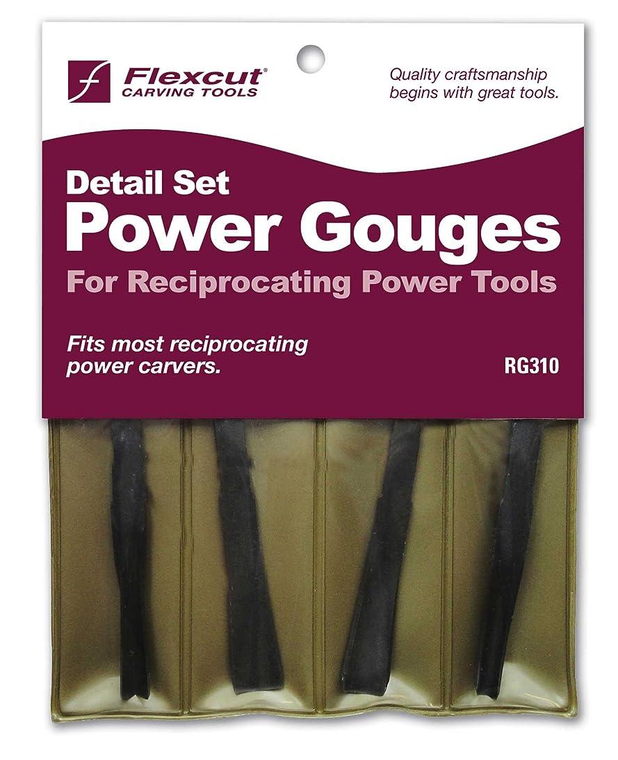 Flexcut Carving Tools, High-Carbon Steel, Detailing Power Gouge Tools, Set of 4 (RG310)